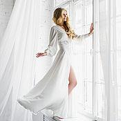 """Свадебный салон ручной работы. Ярмарка Мастеров - ручная работа Будуарное платье  """"Мелодия любви"""" - свадебное из шелка Армани. Handmade."""