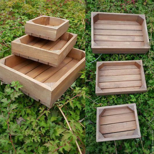 Корзины, коробы ручной работы. Ярмарка Мастеров - ручная работа. Купить ящик деревянный. Handmade. Коричневый, ящик, ящик деревянный
