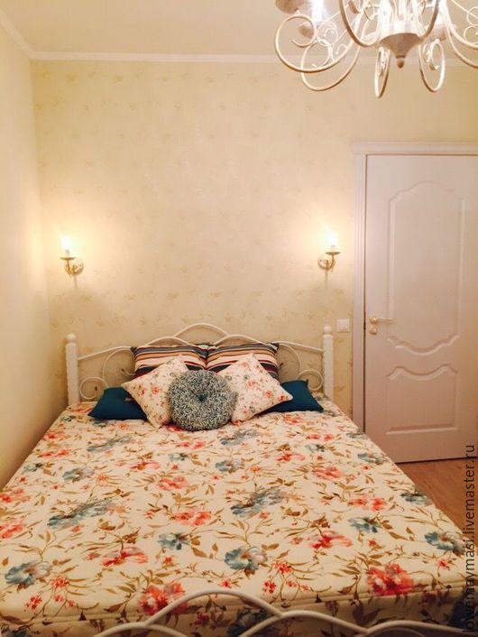 Текстиль, ковры ручной работы. Ярмарка Мастеров - ручная работа. Купить Покрывало стеганое и 2 декоративные подушки в стиле Прованс. Handmade.