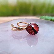 handmade. Livemaster - original item Amber. Ring cherry amber sterling silver gold-plated. Handmade.