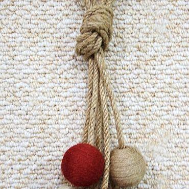 """Текстиль ручной работы. Ярмарка Мастеров - ручная работа Подхваты """" Джут """". Handmade."""