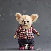 Тедди Зверята ручной работы. Ярмарка Мастеров - ручная работа Тедди Зверята: Лиса Фенек. Handmade.