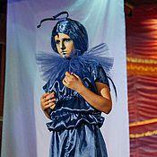 Одежда ручной работы. Ярмарка Мастеров - ручная работа Синяя Гусеница (карнавальный костюм). Handmade.