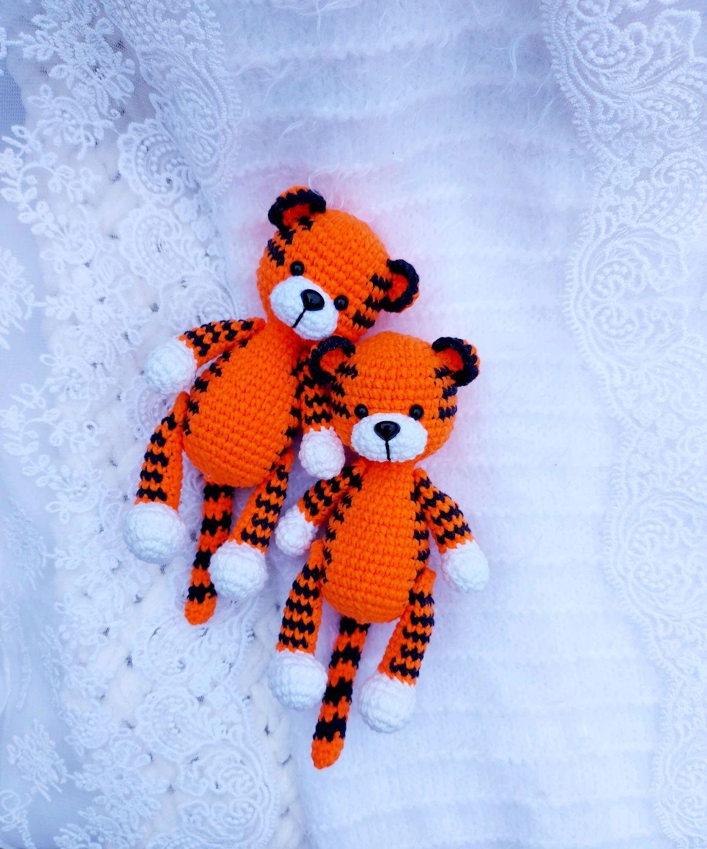 Вязаный тигр, Мягкие игрушки, Уфа,  Фото №1