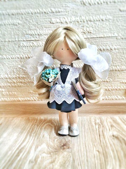 Куклы Тильды ручной работы. Ярмарка Мастеров - ручная работа. Купить Школьница. Handmade. Школьница, кукла ручной работы, трессы