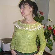 """Одежда ручной работы. Ярмарка Мастеров - ручная работа Кофточка """"Ретро-лайм"""". Handmade."""