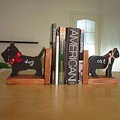 """Для дома и интерьера ручной работы. Ярмарка Мастеров - ручная работа держатели для книг """"кот и пес"""". Handmade."""