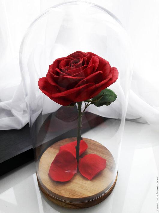 """Цветы ручной работы. Ярмарка Мастеров - ручная работа. Купить Роза в колбе """"Красавица и чудовище"""". Handmade. Роза из фоамирана, подарок"""