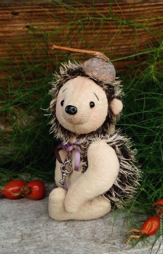 Мишки Тедди ручной работы. Ярмарка Мастеров - ручная работа. Купить Маленький Ежик-Четвероножек Тедди. Handmade. Настоящий тедди