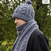 Аксессуары handmade. Livemaster - original item Men`s knitted hat, men`s knitted scarf. Handmade.