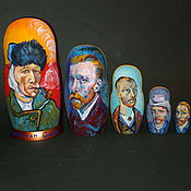 Русский стиль handmade. Livemaster - original item Matryoshka Vincent van Gogh. Handmade.
