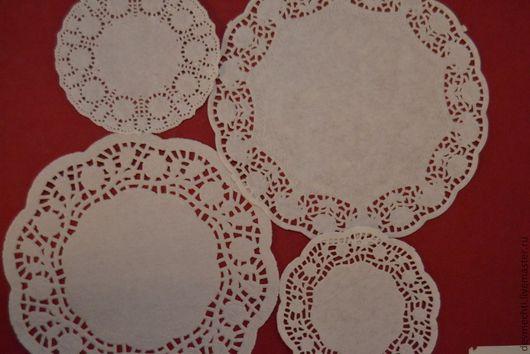 Другие виды рукоделия ручной работы. Ярмарка Мастеров - ручная работа. Купить Салфетка ажурная бумажная. Handmade. Белый