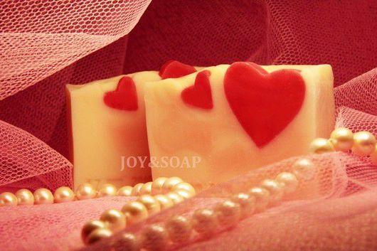 Мыло Joysoap ДВА СЕРДЦА. Натуральное подарочное мыло