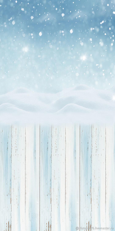 Фотофон Снегопад (пол/стена) 50х100 см, Фото, Ярославль, Фото №1
