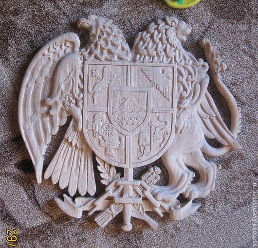 Персональные подарки ручной работы. Ярмарка Мастеров - ручная работа. Купить герб Армении. Handmade. Герб, символика, деревянный герб