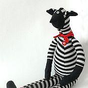 """Куклы и игрушки ручной работы. Ярмарка Мастеров - ручная работа текстильная кукла  """"Полосатый"""". Handmade."""