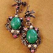 Винтаж handmade. Livemaster - original item Vintage earrings/clip-on earrings with birds!. Handmade.