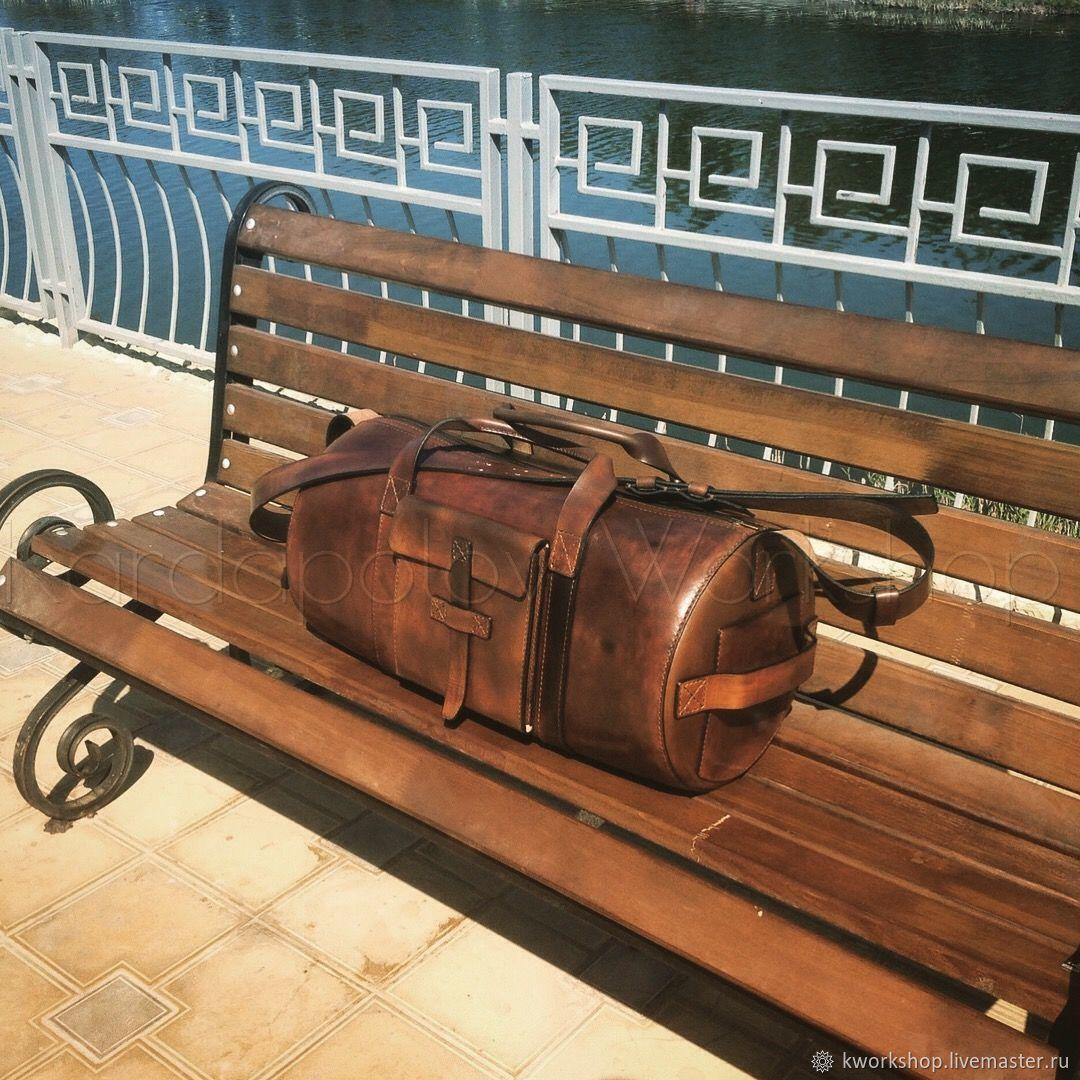 Дорожная сумка из натуральной кожи 92 – заказать на Ярмарке Мастеров – 8FKA3RU | Дорожная сумка, Анапа