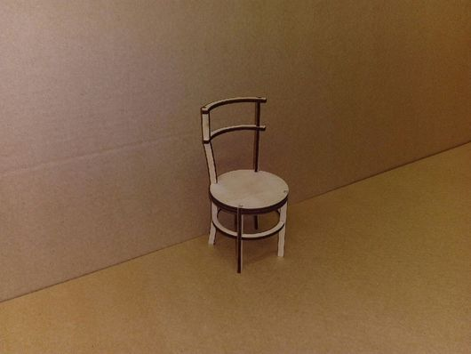 Кукольный дом ручной работы. Ярмарка Мастеров - ручная работа. Купить Стул круглый для кукол в масштабе 1:6. Handmade. Стул