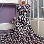 Одежда ручной работы. Ярмарка Мастеров - ручная работа Штапельное платье в пол Вивьен 2. Handmade.