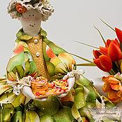 Для дома и интерьера ручной работы. Ярмарка Мастеров - ручная работа Блинчики к чаю! Кукла грелка на чайник 1л. Подарок Пасха 8 марта. Handmade.