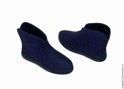 Обувь ручной работы. Ярмарка Мастеров - ручная работа. Купить Фиолетовые ботики. Handmade. Тёмно-фиолетовый, валенки ручной работы