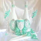 Свадебный салон ручной работы. Ярмарка Мастеров - ручная работа Свадьба в мятном цвете набор. Handmade.
