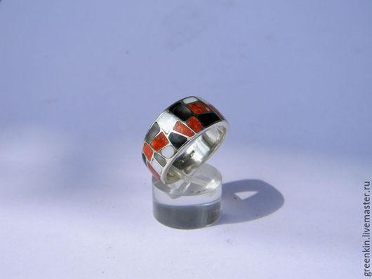 """Кольца ручной работы. Ярмарка Мастеров - ручная работа. Купить кольцо  мозаика"""" Kерри"""". Handmade. Серебряный, кольцо с камнем"""
