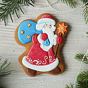 Сувениры и подарки handmade. Livemaster - original item gingerbread Santa Claus. Handmade.