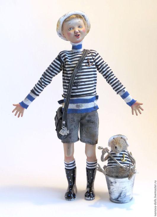 Коллекционные куклы ручной работы. Ярмарка Мастеров - ручная работа. Купить Авторская кукла. Рыбаки. Про рыбу с большим глазом.. Handmade.