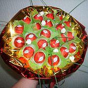 Цветы и флористика ручной работы. Ярмарка Мастеров - ручная работа ручной букет из конфет. Handmade.