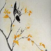 Картины и панно ручной работы. Ярмарка Мастеров - ручная работа Осень (китайская живопись). Handmade.