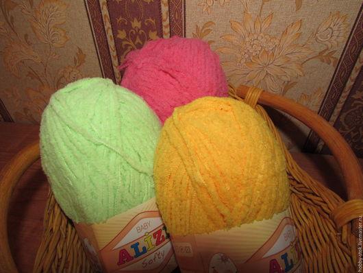 Вязание ручной работы. Ярмарка Мастеров - ручная работа. Купить Пряжа Alize softy. Handmade. Разноцветный, пряжа