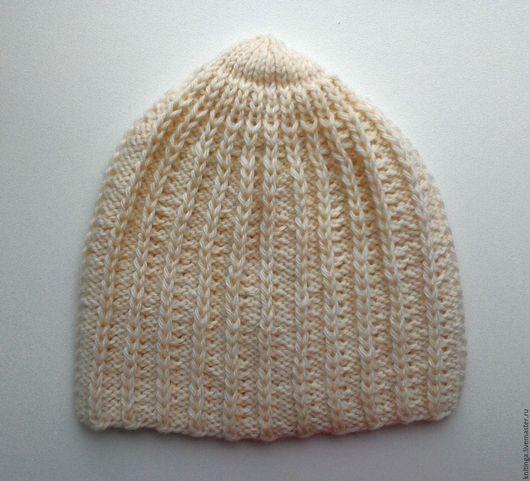 Шапки ручной работы. Ярмарка Мастеров - ручная работа. Купить Вязанная шапка 50-52-54 см. Handmade. Однотонный