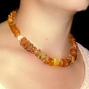 Украшения handmade. Livemaster - original item Amber beads, healing amber natural raw stone. Handmade.