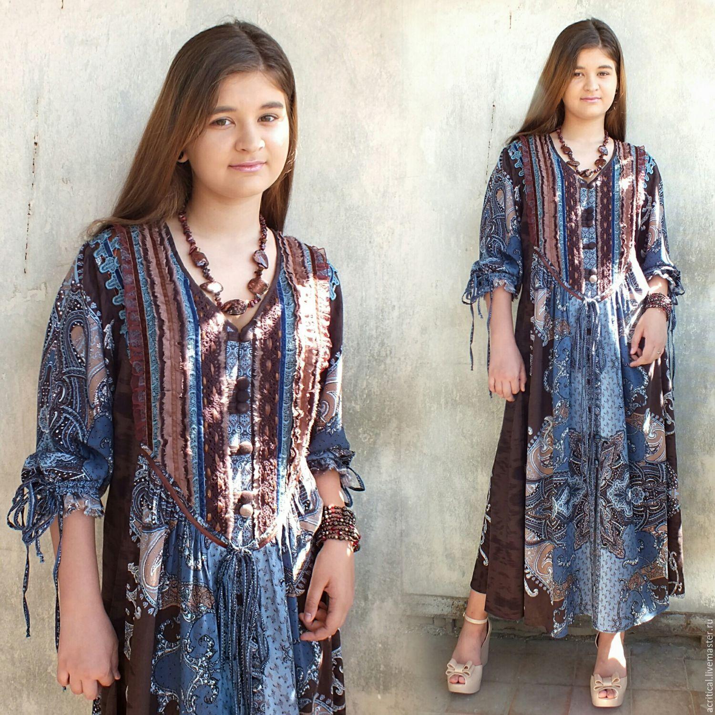 ac0c67cffd8 Dresses handmade. Boho-dress  Chocolate blue . PolMary. Online shopping on  ...