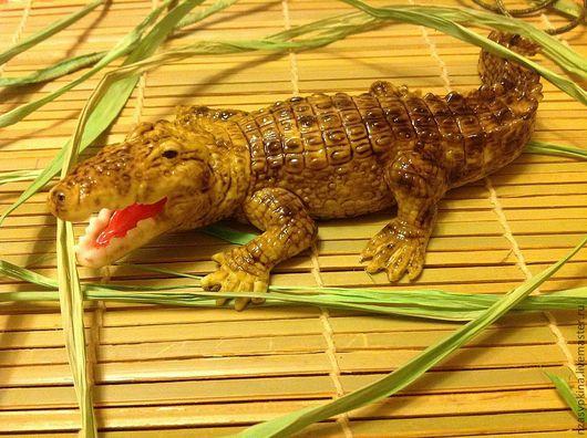 """Мыло ручной работы. Ярмарка Мастеров - ручная работа. Купить Мыло """"Крокодил"""". Handmade. Крокодил, мыло сувенирное, необычный подарок"""