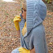 Одежда ручной работы. Ярмарка Мастеров - ручная работа Пальто- пончо вязаное. Handmade.