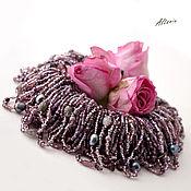 Украшения ручной работы. Ярмарка Мастеров - ручная работа Фиолетовый дождь -  дымчато-фиолетовое колье-хаос. Handmade.