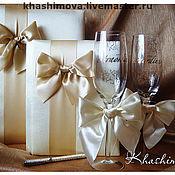 Свадебный салон ручной работы. Ярмарка Мастеров - ручная работа Набор аксессуаров Ivory Bow. Handmade.