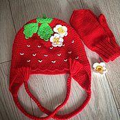 Работы для детей, ручной работы. Ярмарка Мастеров - ручная работа Шапка ягодка. Handmade.