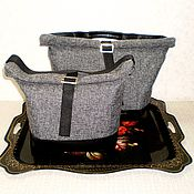 Сумки и аксессуары handmade. Livemaster - original item A bag to hold lunch, a gift on February 23.. Handmade.