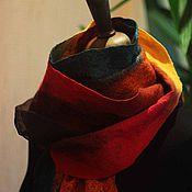 """Аксессуары ручной работы. Ярмарка Мастеров - ручная работа шарф """" В лес за осенью"""". Handmade."""