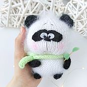 Мягкие игрушки ручной работы. Ярмарка Мастеров - ручная работа Вязаная игрушка панда амигуруми медведь ручной работы. Handmade.