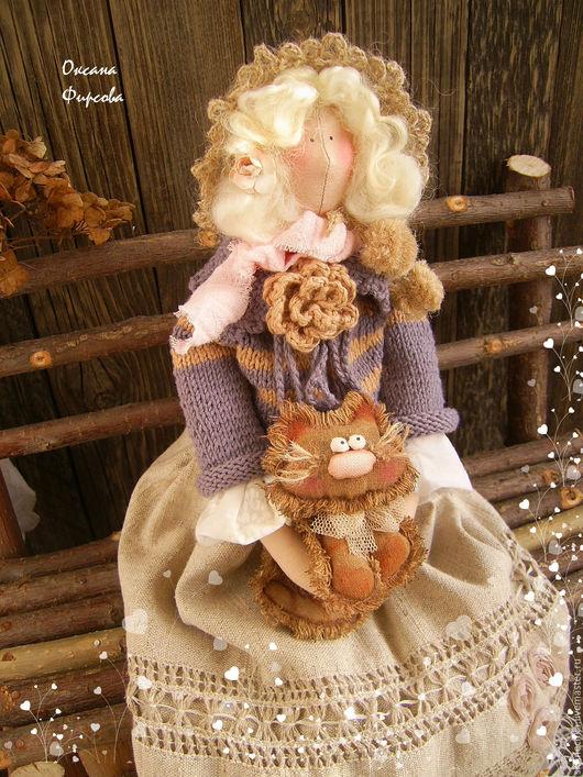 Куклы Тильды ручной работы. Ярмарка Мастеров - ручная работа. Купить Тильда : Моё пушистое счастье. Handmade. Тильда