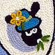 Детская ручной работы. Заказать Картина вязанная из пряжи Барашек на лужайке 30х30. Маскаева Ольга (maskaevadecor). Ярмарка Мастеров. Баран