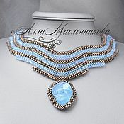 Украшения handmade. Livemaster - original item Necklace Tear of Joy with aquamarine. Handmade.