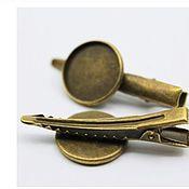 Материалы для творчества handmade. Livemaster - original item Hair clip, 16,18 mm. Art.OZ43. Handmade.