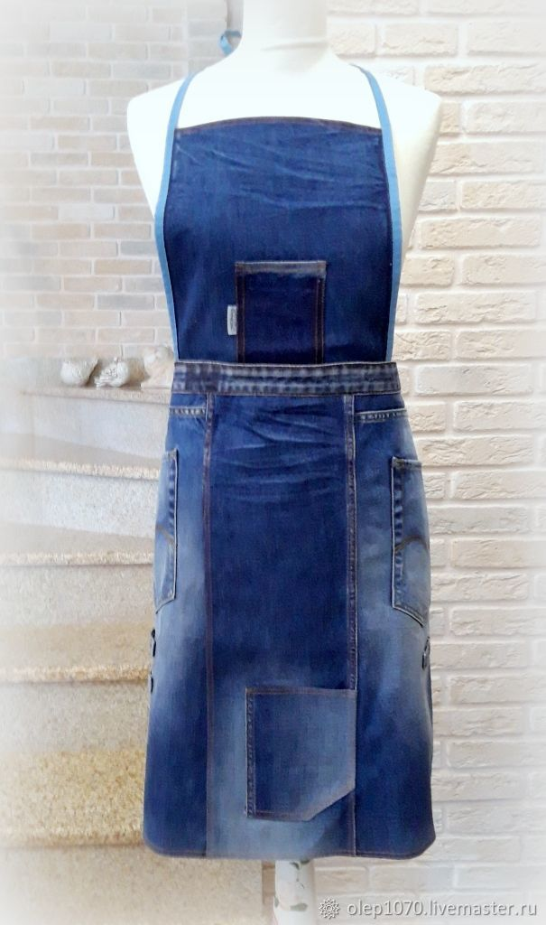 Large size denim apron for gardening, Flower bed, Moscow,  Фото №1
