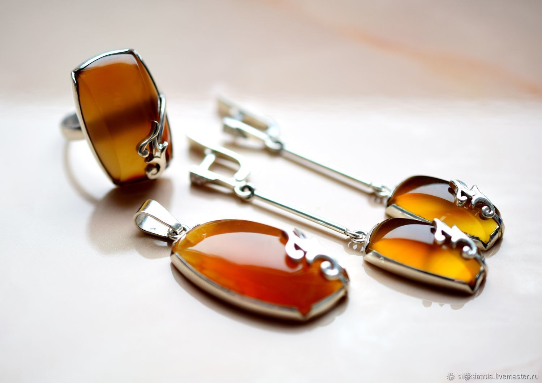 set of carnelian. Custom made, Jewelry Sets, Odessa,  Фото №1